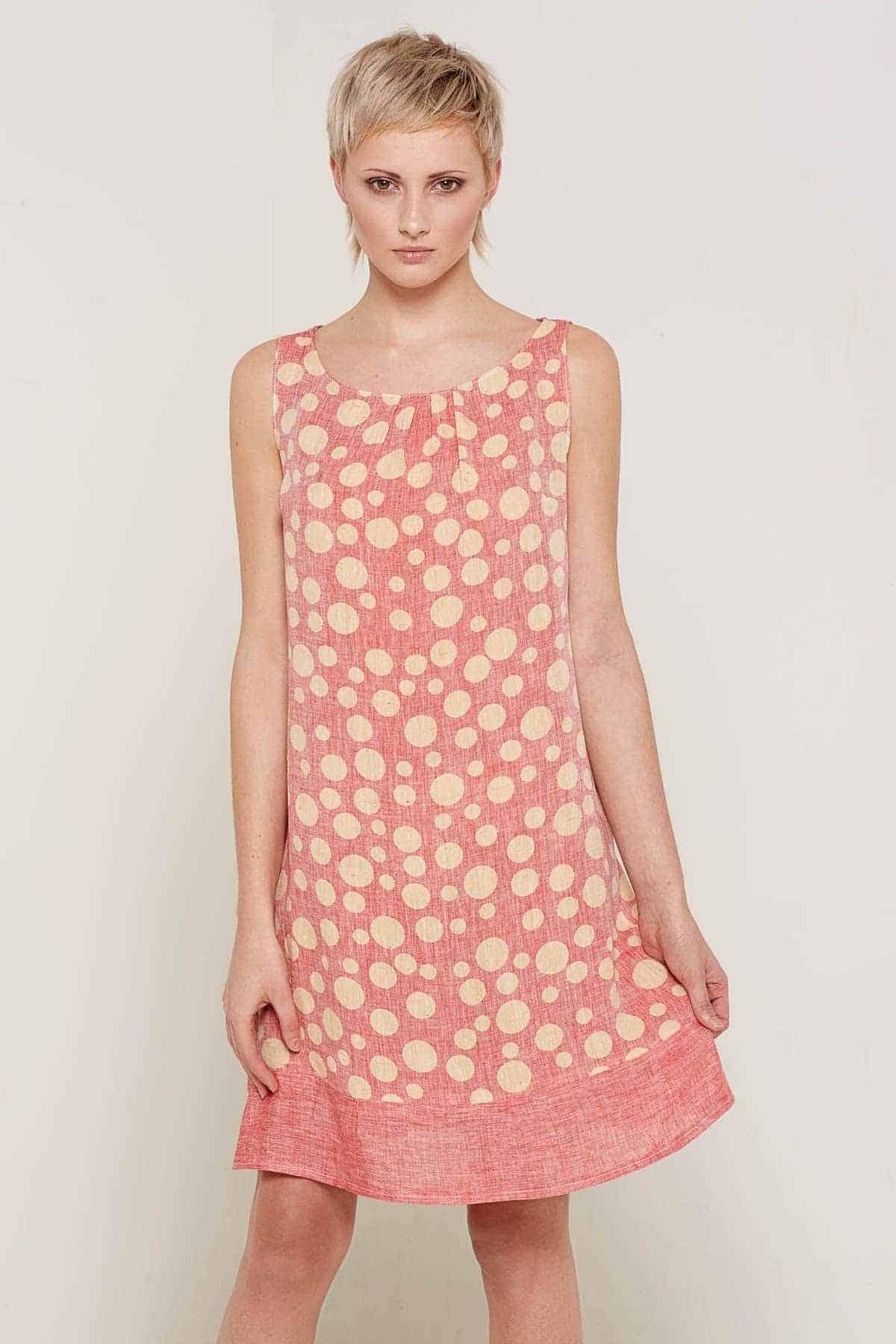 Arabella Dress Rose Front