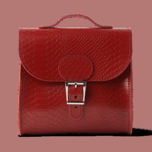 Brit Luxe Croc Shoulder Bag Vintage Red