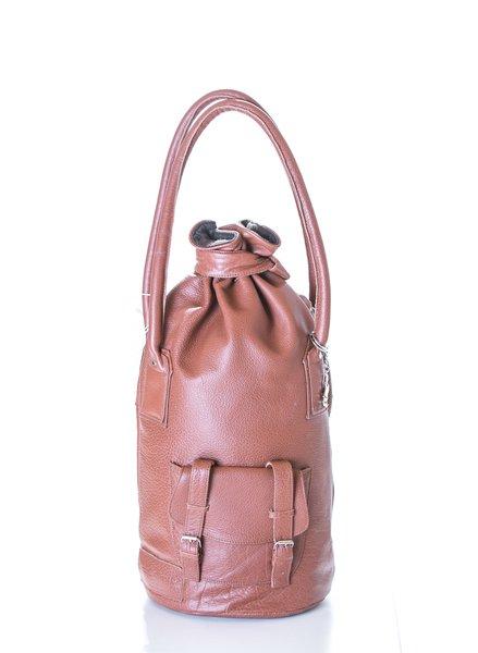 Diana Leather Cognac Handbag 1