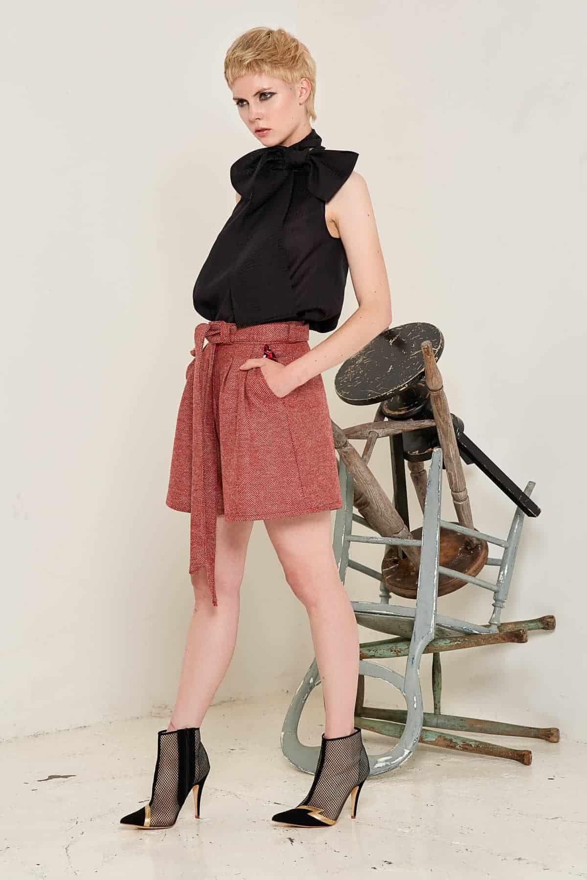 Doralis Wool Shorts Red Full