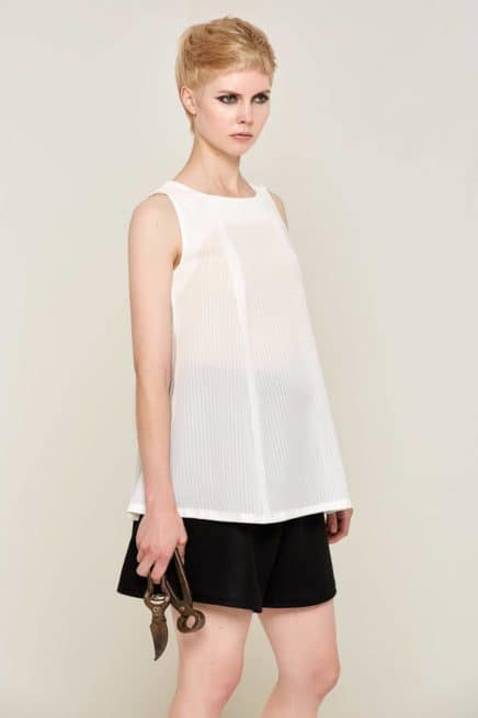 Eda Bow Blouse White Front