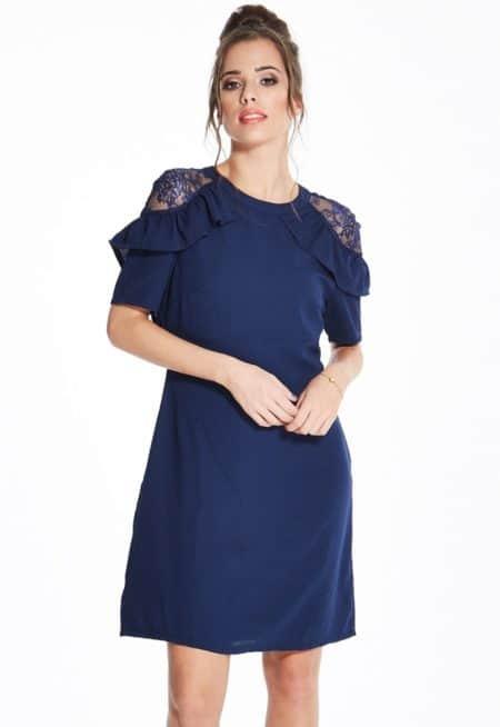 Madam-Rage-Navy-Lace-and-Frill-Dress