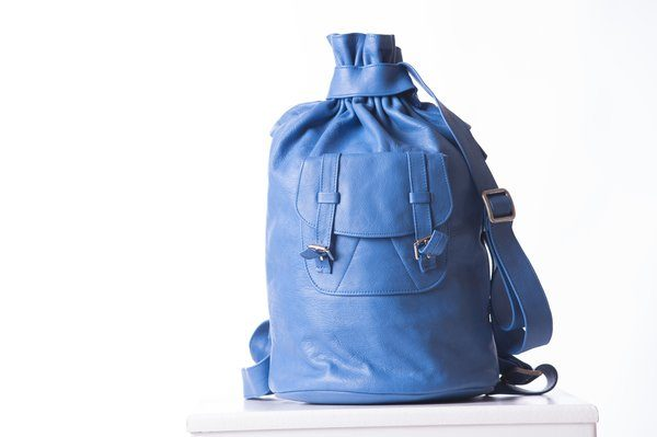 Piper Ray Cobalt Leather Backpack 3