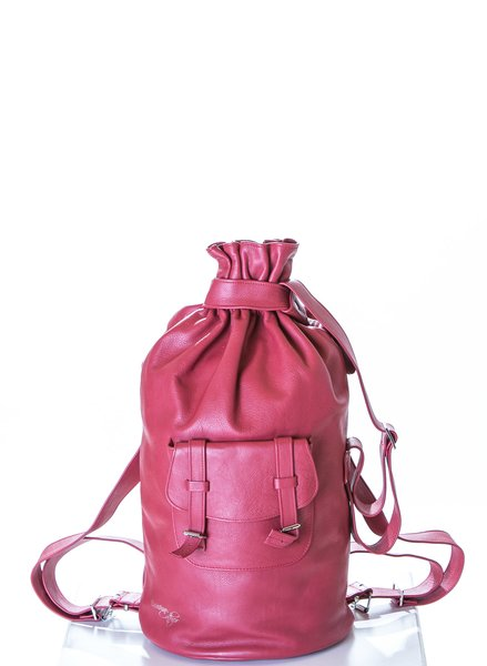 Piper Ray London Bus Leather Backpack 2
