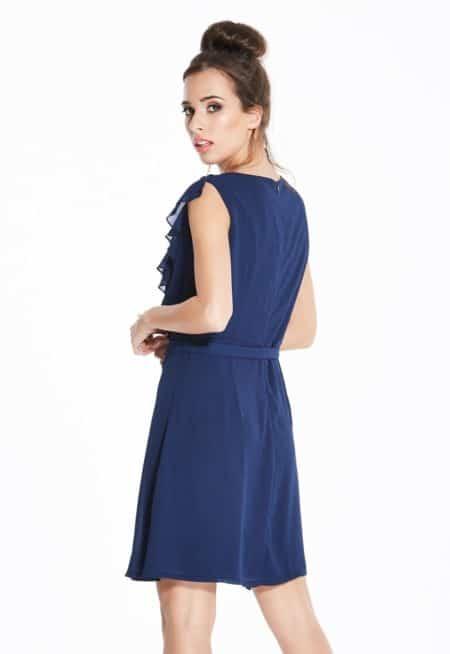 Madam-Rage-Navy-Ruffle-Skater-Dress