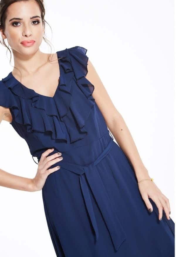 Madam-Rage-Navy-Ruffle-Skater-Dress