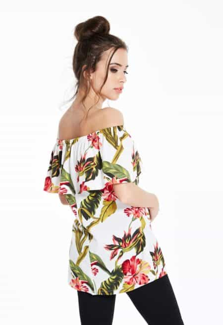 Madam-Rage-Floral-Bardot-Top