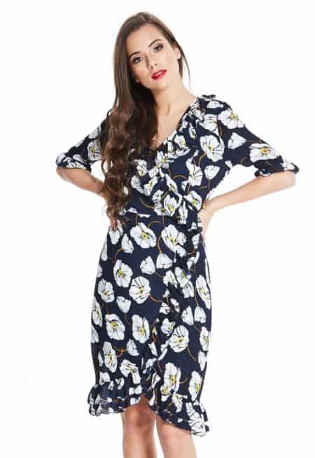 Madam-Rage-Floral-Ruffle-Wrap-Dress