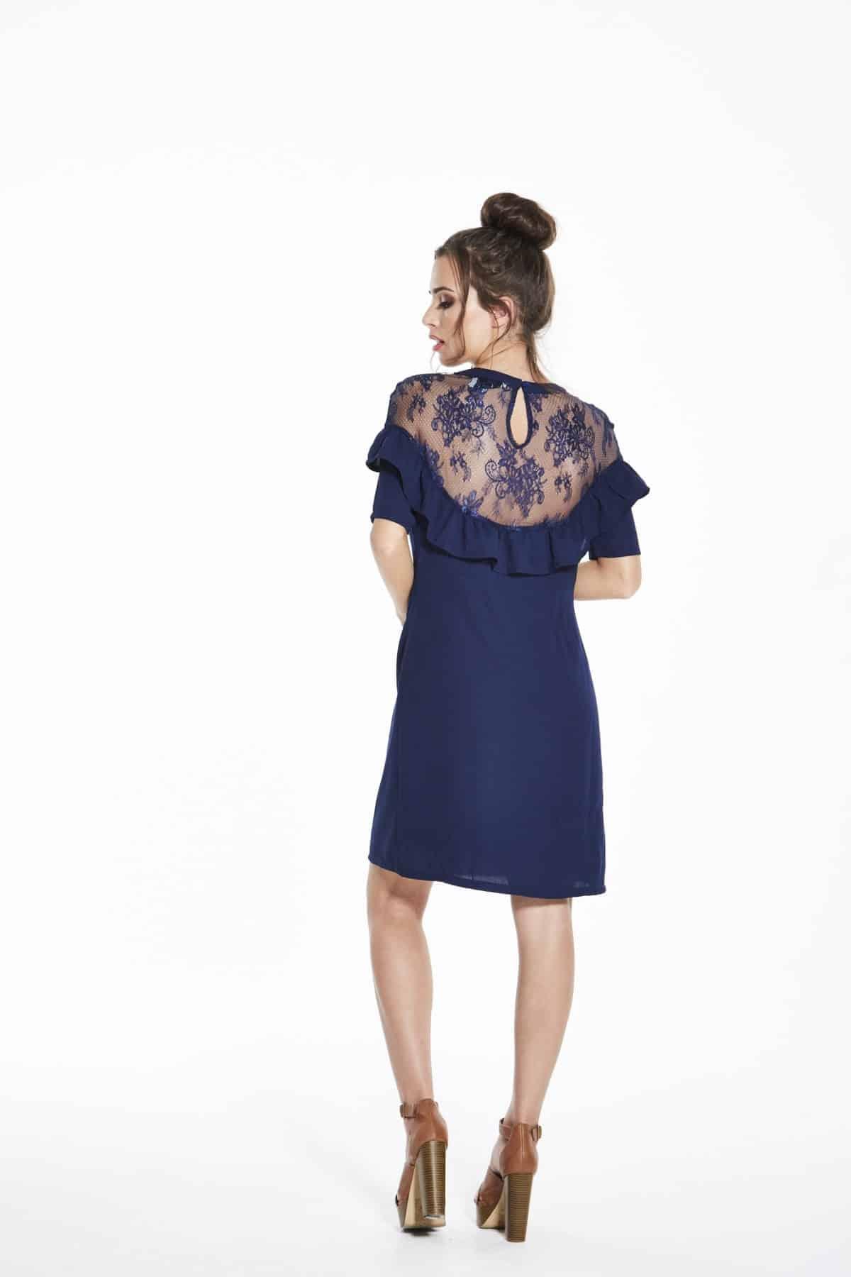 Madam-Rage-Navy-Lace-And-Frill -Dress