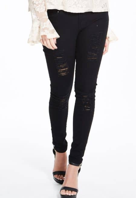 Madam-Rage-Black-Ripped-Skinny-Jeans