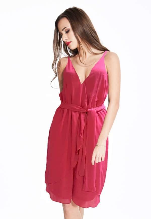 Madam-Rage-Pink-Wrap-Dress