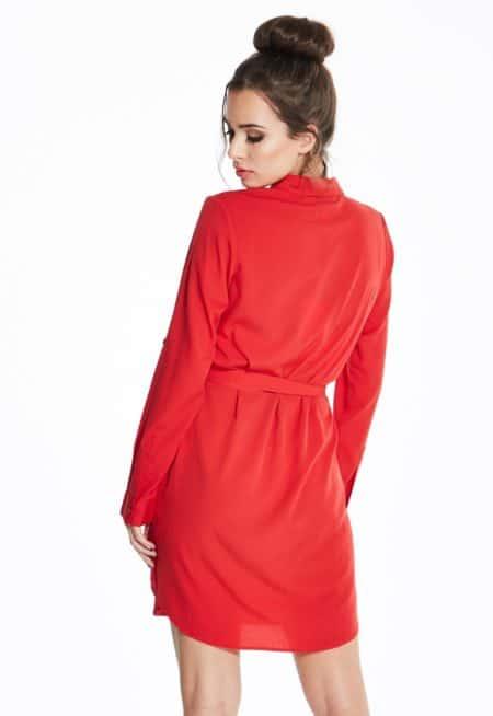 Madam-Rage-Red-Embroidered-Shirt-Dress