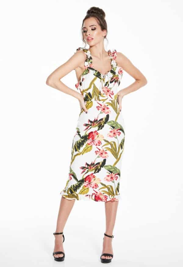 Madam-Rage-Floral-Midi-Dress